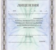 Лицензия школы